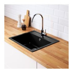 HÄLLVIKEN Indbygningsvask, enkelt  - IKEA
