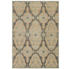 Saphir Rug - Ivory & Silver - Machine woven in a mixture of high and low…