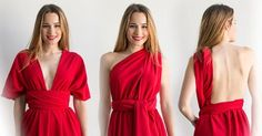 Cómo hacer un vestido muy fácil. Tutorial DIY de vestido multiposición para bodas y eventos.