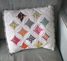 cathedral windows cushion