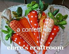 a confetti life: the fabric carrots are here