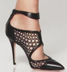 You can not have too many black shoes.   love the round cut outs and ankle strap