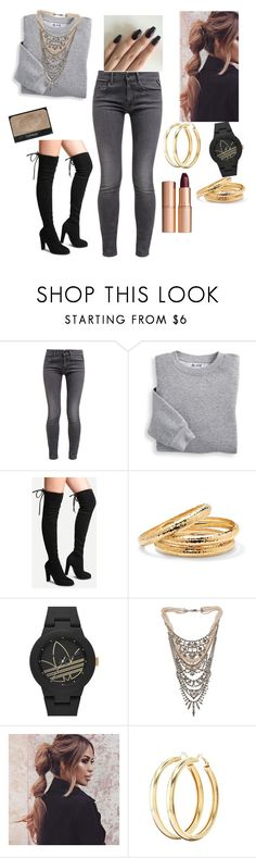 """""""Untitled #3007"""" by vireheart ❤ liked on Polyvore featuring Replay, Blair, Palm Beach Jewelry, adidas Originals, Tom Binns, Charlotte Russe, NARS Cosmetics and Charlotte Tilbury"""