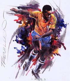 The greatest: Pele by Paul Trevillion will feature at the exhibition during this summer's ...