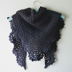 the Dory shawlette. For sale, or grab the pattern and make your own.