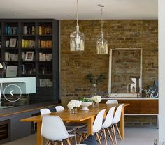 Exposed Brick Walls, Conference Room, Table, Furniture, Home Decor, Decoration Home, Room Decor, Meeting Rooms, Tables
