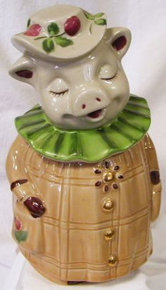 Winnie Pig Cookie Jar by Shawnee