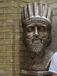 Bust Statue of Shahanshah King Cyrus the Great king of the four corners of the World #IRAN
