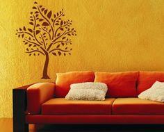 Malířská dekorační šablona Strom #sablonanamalovani#malirskasablona#malovanijehra#profikbehemchvilky#malovanisten#sablonynazed Bonsai, Love Seat, Couch, Furniture, Design, Home Decor, Settee, Decoration Home, Sofa