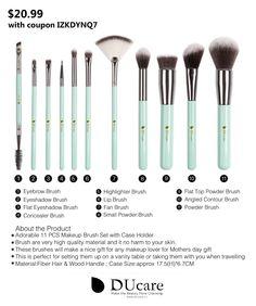 $20.99 -- 11Pcs New Mint Green Makeup Brush of Girls,apply for foundation,eyeshadow,powder,smokey eye,highlighter,blush,eyebrow,lip,eyeliner  Get 30% off with coupon IZKDYNQ7 -- BUY IT NOW: http://www.amazon.com/dp/B01FM8J5OQ