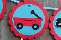 Little+red+wagon++Little+Boy+Birthday+banner+I+am+by+HaveYourParty,+$15.00