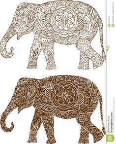 Indian elephant patterns