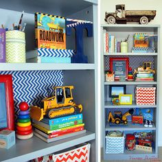 Vanessa Shaffer Designs Bookshelves For Construction Themed Nursery Construction Theme Bedroom Boys Construction Room