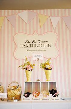 Wedding Make Your Own Sundae Bar