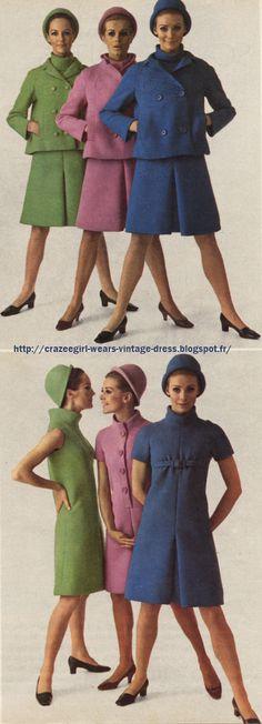 1966 dress suit jacket 60s 1960 Jean Patou
