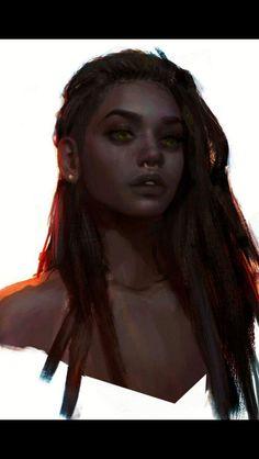 Ahzel Ingra {original art by Yulia Archer} Character Design Girl, Female Character Inspiration, Fantasy Inspiration, Character Art, Black Characters, Fantasy Characters, Female Characters, Black Women Art, Black Girls