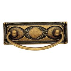 Shop for Richelieu 6323167 Art Deco Center to Center Drop Cabinet Pull - floral brass. Get free delivery On EVERYTHING* Overstock - Your Online Home Improvement Shop! Brass Cabinet Pulls, Woodworking Industry, Hickory Hardware, Decorative Knobs, Furniture Hardware, Drop, Knobs And Pulls, Drawer Pulls, Handle
