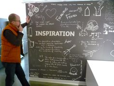 They really loved their chalk board brain storming at the office. What if at the pop-up, the customer got to brain storm or interact in some way??    (Google Image)