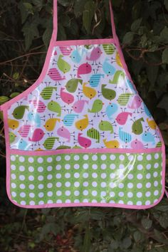 Child's laminated aprons.... With sew cherry laminate:)