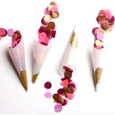 In love with these confetti cones! Hand these to your guests for an easy way to toss some fun into the air!   #Confetti #ConfettiCone #ConfettiTube #Party #Fun #Colors #PartyIdeas #Wedding #Birthday #WeddingShower #ConfettiFlakes #ColorfulConfetti #Decorations #PartyDecorations #EventPlanner #PartyPlanner #BayArea #SanJose #SF #SanFrancisco #Atherton #PaloAlto #MenloPark #LosGatos