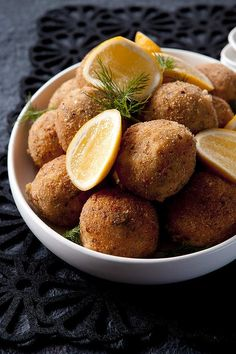 """Smoked salmon and dill croquettes <a href=""""http://www.goodfood.com.au/good-food/cook/recipe/smoked-salmon-and-dill-croquettes-20120725-29tv6.html""""><b>(recipe here).</b></a>"""