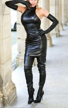 Handmade Women's lamb Skin Leather Dress , Leather Outfit, Leather Jacket , Women's Full Leather Coat, Genuine Leather Jacket - Source by - Leather Halter, Leder Outfits, Black Leather Dresses, Jackets For Women, Clothes For Women, Lambskin Leather, Leather Jacket, Leather Skirt, Looks Cool