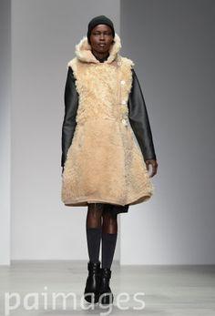 Christopher Raeburn's fur hooded mini dress is one to watch