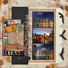 scrapbook travel layout. love all the ways to use this basic layout.