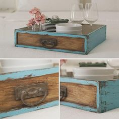 Upcycled Home Decor, Repurposed, Diy Home Decor, Pallet Crates, Antique Restoration, Before And After Diy, Diy Wood Projects, Old Dresser Drawers, Ikea Hacks