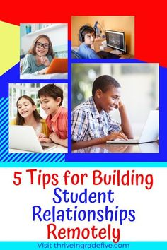 Teaching virtually? It can be difficult to build relationships with students through a computer screen. Check out my five suggestions for building student relationships remotely. Engage In Learning, Learning Resources, Teacher Hacks, Best Teacher, Classroom Community, Virtual Community, Community Building, Teacher And Student Relationship, Teaching Procedures