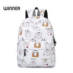 fc0dbe8bc670 Cute Cartoon Pattern Shoulder Backpacks Waterproof Female Trendy Preppy  Style Printing Student Girls College Backpack Bags