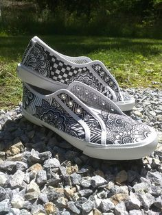 zentagle, doodling, shoe