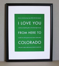 I love this. It would be more fitting if I still had a love there. But yay it says Boulder, my favorite city!