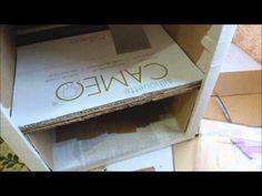 Gaveteiro e prateleiras de papelão - YouTube