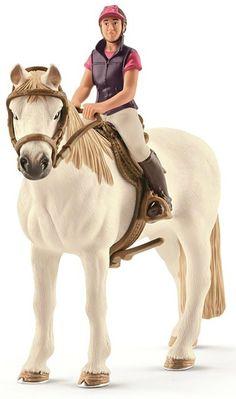 Schleich Recreational Rider with Horse www.minizoo.com.au