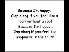 Pharrell Williams: Happy with Lyrics ~I love Despicable Me 1 and 2. (Of course, really, who doesn't like Despicable Me?)