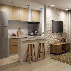 Kitchen Room Design, Home Room Design, Modern Kitchen Design, Home Decor Kitchen, Interior Design Kitchen, Kitchen Furniture, Kitchen Ideas, Small Apartment Interior, Apartment Design