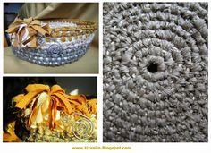Cestería de reciclaje con trapillo con alma en espiral Merino Wool Blanket, Cable, Blog, Tela, Spirals, Twine, Recycling, Trapillo, Felting