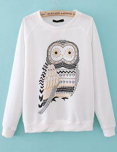 Owl Print Sweatshirt