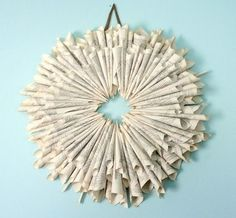 Old Words DIY Wreath - awesome! - PAPER CRAFTING