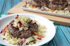 Ginger Mustard Coleslaw Burgers | Plaid and Paleo