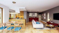 Projekt domu Murator C333u Miarodajny - wariant XVIII 99,20 m² - koszt budowy - EXTRADOM 20 M2, Conference Room, Villa, Vogue, Interior, Furniture, Home Decor, Decoration Home, Indoor