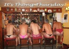 thong thursdayss, do you think this will replace thirsty thursday?? These are hilarious humans