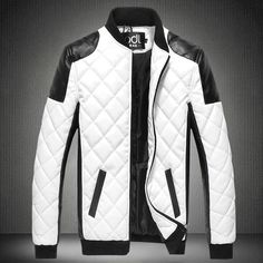 MK988 Mens Mid Length Thermal Slim Autumn Plus Size Pea Coat Trench Jacket Overcoat