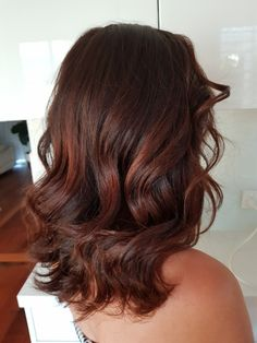 #chocolatebrownhair #brownhair #winterhair #hair #blowwave #curls #style @modellookbeautyandhair