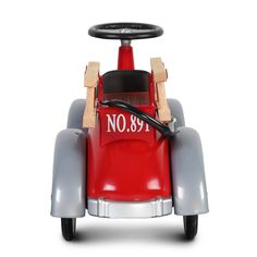 Baghera Speedster - Fireman, Made of high quality metal with rubber tires, Enhances coordination and motor skills, functioning bell, red ride-on fire truck. Baby Ride On, Baby Car, Leg And Glute Workout, Kids Ride On Toys, Rubber Tires, Fire Trucks, Motor Skills, Old Things, Metal