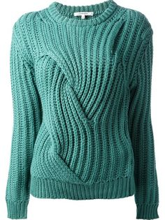 CARVEN - chunky-knit sweater 6. I would change to 3/4 sleeve and edge bottom and sleeve with wide seed stitch with vented sides