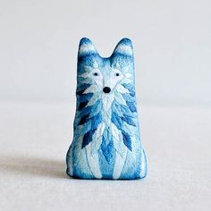 Kiriki Press : DIY Embroidered Doll Kit : Wolf  Made in Toronto, Ontario, Kiriki Press hand-crafted embroidery kits pair classic embroidery stitches with contemporary illustration.   All Kiriki patterns are screen printed with vibrant, water based inks ri…