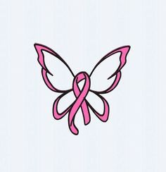 Breast Cancer Ribbon Butterfly SVG Cut File by JenCraftDesigns Cancer Awareness Tattoo, Cancer Survivor Tattoo, Breast Cancer Awareness, Breast Cancer Crafts, Breast Cancer Tattoos, Cancer Ribbon Tattoos, Pink Ribbon Tattoos, Butterflies, Tattoo
