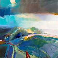 Take A Last Look at the Malverns with late artist Landscape Artwork, Abstract Landscape Painting, Abstract Art, Oil Painting Pictures, Paintings I Love, Oil Paintings, Collage, Painting & Drawing, Painting Trees